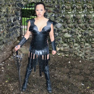 Real Leather Eternal Gladiator Warrior Corset Armour-SW-3381