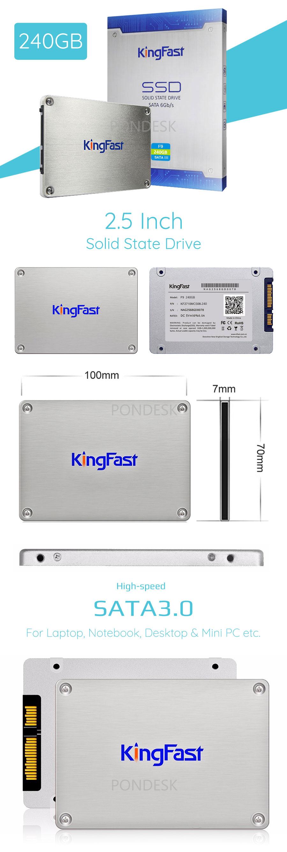 KingFast 240GB 2.5 Inch SATAIII Laptop/Notebook SSD Drive - UDHO-014   Image